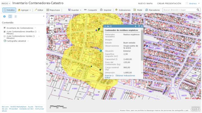 Web Map Inventario Contenedores